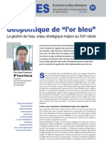 "Géopolitique de ""l'or bleu"" - Note d'analyse géopolitique n°23"