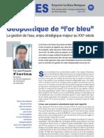 """Géopolitique de """"l'or bleu"""" - Note d'analyse géopolitique n°23"""
