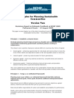 Principles for Planning Sustainable Communities Preliminary Feedback 2