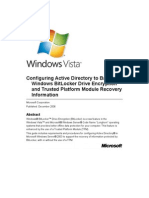 Configuring Active Directory to Back Up Windows BitLocker Drive Encryption and Trusted Platform Module Recovery Information