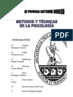 MÉTODOS Y TÉCNICAS DE LA PSICOLOGIA