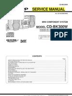 Sharp CD-bk300w Service Manual