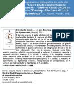Segnalazione bibliografica Centro Documentazione e Ricerche - Gruppo Abele Onlus