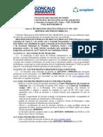 Edital de Concurso Republic Ado Por Incorrecao Sao Goncalo Do Amarante