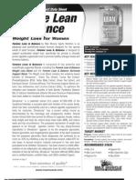 FEMME LEAN & BALANCE Product Data Sheet
