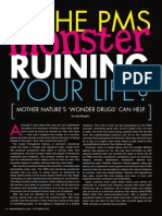 """""""IS THE PMS MONSTER RUINING YOUR LIFE?"""" - Mother Nature's """"Wonder Drugs"""" can help."""