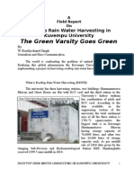 A Report on Rain Water Harvesting