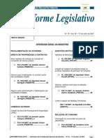 Informe Legislativo nº 18 de 30-07-2007