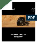 Bremach T-REX Retail Pricelist[1]