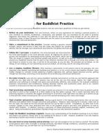 Basic Guidelines Buddhist Practice