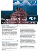 Budget 2009 - Shipping