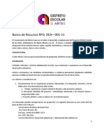 Request for Qualification - Distrito Escolar de las Artes
