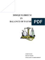 Disequilibrium in Balance of Payments
