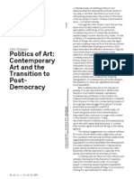 Politics of Art Transition to Post-Democracy