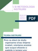 Teoria Si Metodologia Instruirii Autor Conf Univ Dr Irina Maciuc