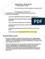 English Final - Study Guide (2011)