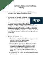 International Telecommunications Unions