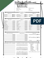 Vampire - The Masquerade - Character Sheet - 4 Page Character Sheet