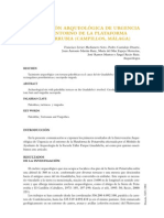 Intervención arqueológica de urgencia en el entorno de la plataforma de Peñarrubia (Campillos, Málaga)