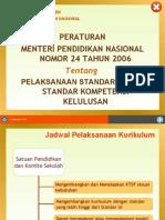 06  Permendiknas 24 ttg Pelaksanaan SI & SKL
