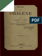 Joly. Etude sur Origène. 1860.