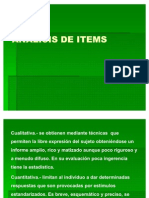 Analisis de Items