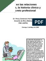 Ética en las relaciones laborales, la historia clínica y el secreto profesional