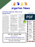 June 3, 2011 Newsletter