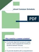 Middle School Common Schedule