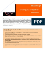 Learning Info Sheets Choosing Your Postgraduate Course