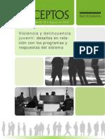 BLANCO Conceptos 18  Violencia y delincuencia juvenil desafíos en relación con los programas y respuestas del sistema