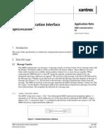 XBM Communication Interface Specification