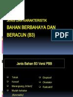Jenis Dan Karakteristik Bahan Berbahaya Dan Beracun (B3)