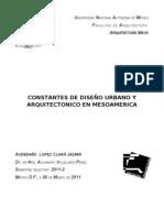 CONSTANTES DE DISEÑO URBANO Y ARQUITECTONICO EN MESOAMERICA