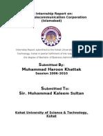Haroon - Internship Report