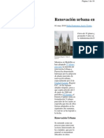 Bogot Teme a La Renovacion Urba