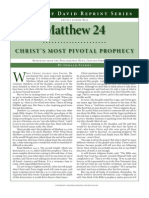 Matthew 24 Christ's Pivotal Prophecy