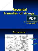 Placental transfer of drugs