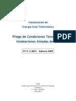 Energia Fotovoltaica Pliego Aisladas de Red IDAE