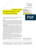 Effect of an Enamel Matrix Derivative gains on Ex Vivo Dental Plaque Vitality