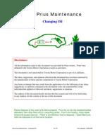 Prius Maintenance Changing-Oil