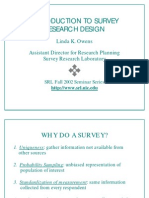 Introduction to Survey Research Design