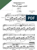 Cara, Santino - Sonate en Re Majeur Pour Piano, Midsummer Night -1er Tempo
