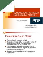 Comunicación de Riesgos, Emergencias y Crisis