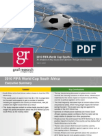 Online Media Analysis of the 2010 FIFA World Cup