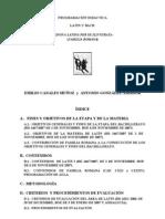Lengua Latina Per Se Programacion.didactica.latin