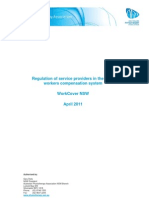 110424 Regulation of Service Providers in the Nsw Workers Compensation System