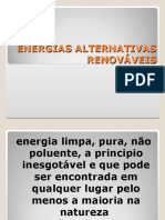 ENERGIAS ALTERNATIVAS RENOVÁVEIS