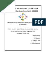 CS2209 - Oops Lab Manual