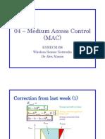 04 - Medium Access Control (MAC)